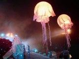 ışıklı balon ayaklı küre balom şişme balon led aydınlatmalı fildişi dekoratif ışıklı balon ışıklı deniz anası yürüyen reklam balonları balon led ışık reklam balonu