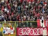 Rot-Weiß Erfurt vor dem Spiel gegen Chemnitz