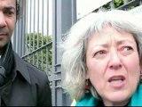 Arlette Zilberg participe à la chaîne humaine contre le nucléaire