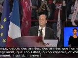 Meeting de F. Hollande à Paris-Bercy