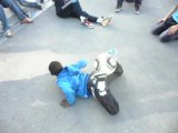 """foot freestyle """"smurfstyle"""" by prodige team las the artist challenge fondation PSG"""