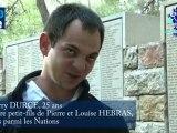 """DURCE Thierry - Arrière petit-fils de Pierre et Louise HEBRAS  """"Justes parmi les Nations"""""""