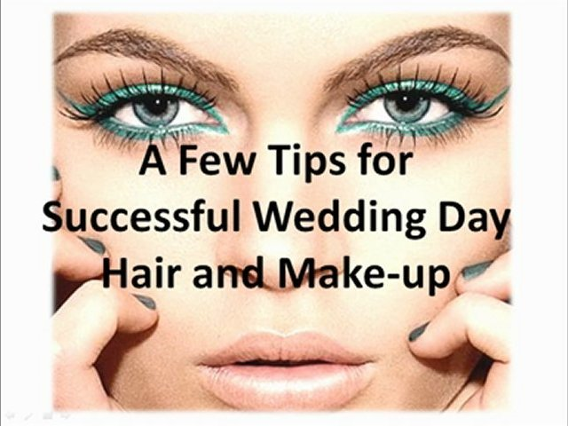 A Few Tips for Successful Wedding Day Hair and Make-up