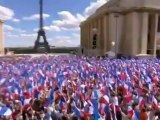 Around 200 Thousand Turn Out for Nicolas Sarkozy's May Day Rally in Front of Eiffel Tower