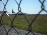 Décolage d' un avion .