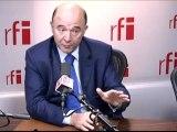 Pierre Moscovici, directeur de campagne de François Hollande pour l'élection présidentielle, député PS du Doubs