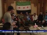 Homs: visite d'un quartier aux mains des rebelles syriens