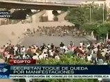 Decretan toque de queda en Egipto tras disturbios