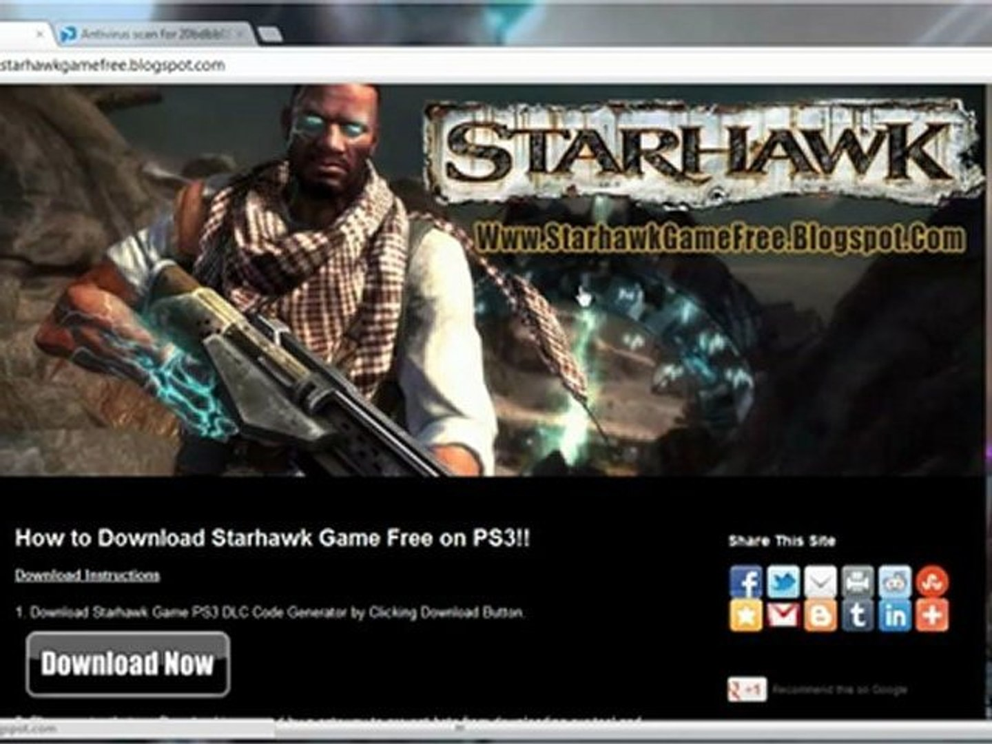 Starhawk Game PS3 Crack Free Download