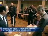 Présidentielle : le candidat socialiste François Hollande a voté