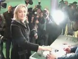 Marine Le Pen a voté à Hénin-Beaumont