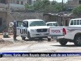 Syrie: à Homs, dans Bayada détruit et vidé de ses habitants