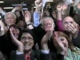 Présidentielle 2012 : la victoire fêtée à la fédération du parti socialiste de la Sarthe