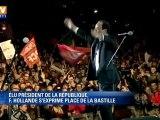 François Hollande fête sa victoire place de la Bastille