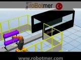 ABB IRB 5400 ROBOT CONVEYOR TRACKING FLAMING - ALEVLEME KONVEYOR ROBOT