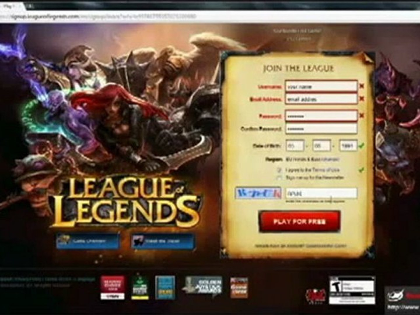 League of legends Hack 2012 (free 50000 RP and 30000 IP) works 100%