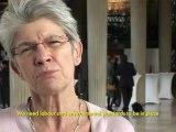 Conférence RIO+20 : la participation des syndicats interview Bernadette Ségol conférence internationale  des nations unies sur le développement durable