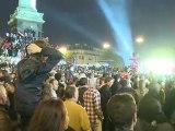 Ambiance à Paris lors de la soirée électorale