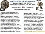 Suncast CPLSTA125B 125-Foot Sidetracker Garden Hose Reel With Guide vs Rapid Reel Two Wheel Garden Hose Reel Cart Model #1043-GH