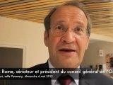 Présidentielles : le sénateur de l'Oise Yves Rome réagit après la victoire de François Hollande
