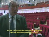 Conférence RIO+20 : l'engagement des collectivités interview Jacques Pélissard  conférence internationale  des nations unies sur le développement durable