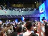 NS2012 - Soirée du 2ème tour - maison de la Mutualité - arrivée de Nicolas Sarkozy (ext.1)