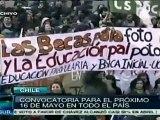 Estudiantes chilenos anuncian protestas