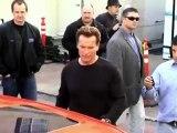 Arnold Schwarzenegger Shows Sylvester Stallone New Car