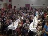 Hollande élu, résultats à Chalon et célébration de la victoire par le Parti Socialiste.