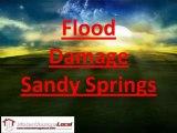 Sandy Springs Flood Damage