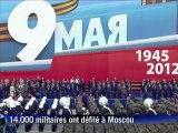Russie: 14.000 militaires défilent à Moscou pour fêter 1945