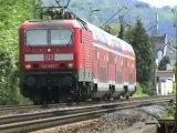 Züge Bad Hönningen, Railion 185, 4x DBAG 185, Railpool 185, ADRIA 182, Alpha Trains 185, CB Rail Prima, 2x 189, 2x 143, 425