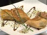 Cuisine : Recette du croustillant de foie gras au saumon