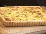 Cuisine : Recette: tarte au saumon et aux courgettes
