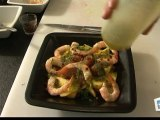 Cuisine : Recette de salade de saumon et crevettes