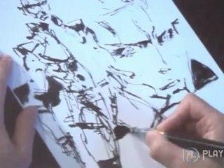 Dessin à main levée de Yoji Shinkawa de Metal Gear Rising : Revengeance