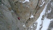 Grandes Jorasses face Est Chamonix Mont-Blanc massif avec le GMHM