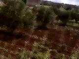 Syria فري برس  درعا المليحة الغربية  درعا   لحظة سقوط قذيفة على أحد المنازل 12 5 2012 Daraa