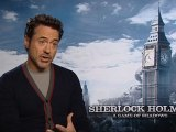 Sherlock Holmes: A Game Of Shadows - Exclusive Interview With Robert Downey Jr, Jude Law, Noomi Rapace and Stephen Fry