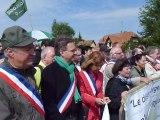 Manifestation anti GCO la conclusion de Dany Karcher