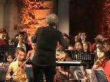 Concert dans l'Abbatiale : l'Alter Quintet et 90 musiciens amateurs à Saint Philbert