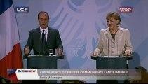 EVENEMENT,Conférence de presse de François Hollande et d'Angela Merkel