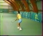 Amélie MAURESMO à 11 et 12 ans Entraînement Tennis, Practice