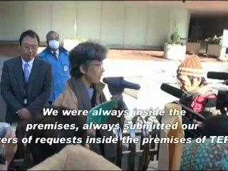 40 Fukushima Women's Protest to TEPCO (Dec/28/2011)/福島の女性40人が東電前で2011年最後の抗議