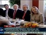 Hollande plantea retiro de tropas francesas de Afganistán