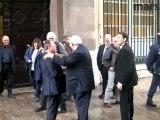Gaudin et Rué à la sortie de la mairie