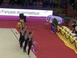 Championnat de France GR DF/DN - Nimes 2012 - Démonstration de l'Ensemble France