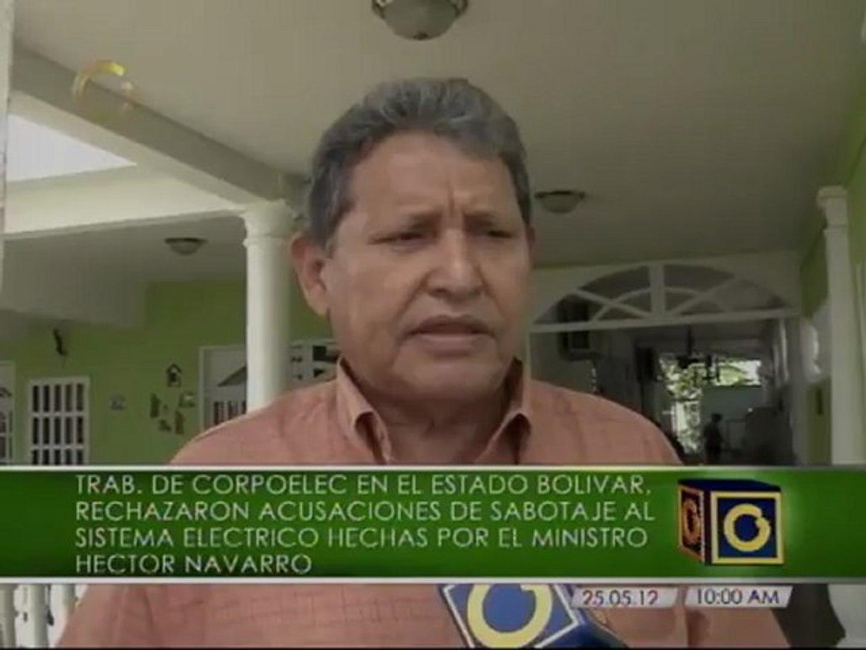 Trabajadores de Corpoelec en Bolívar rechazan acusaciones de sabotaje del ministro Navarro