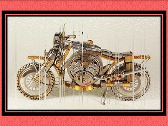 Miniature watch motorcycles