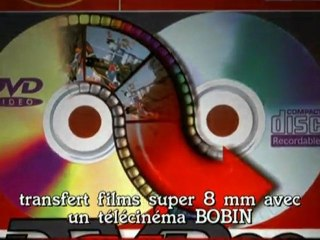 Transfert films avec Bobin télécinéma super 8 mm